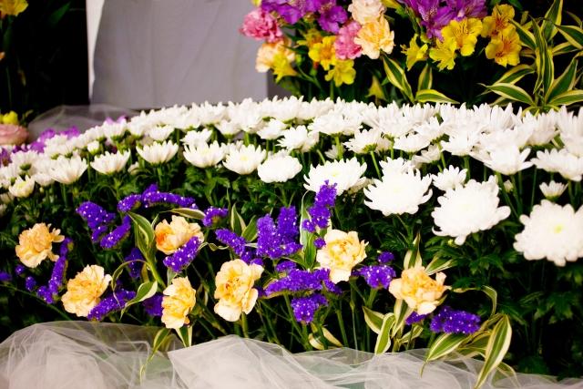 生前葬の祭壇
