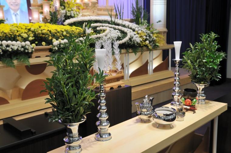 告別式の時の祭壇